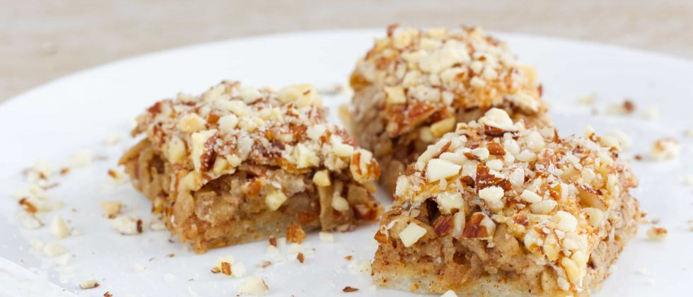 Apple and almond squares