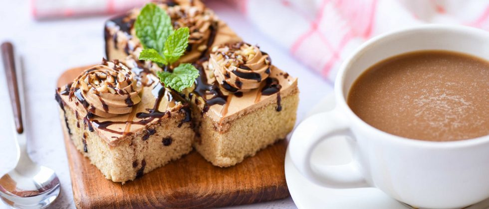 Coffee Cake served with coffee