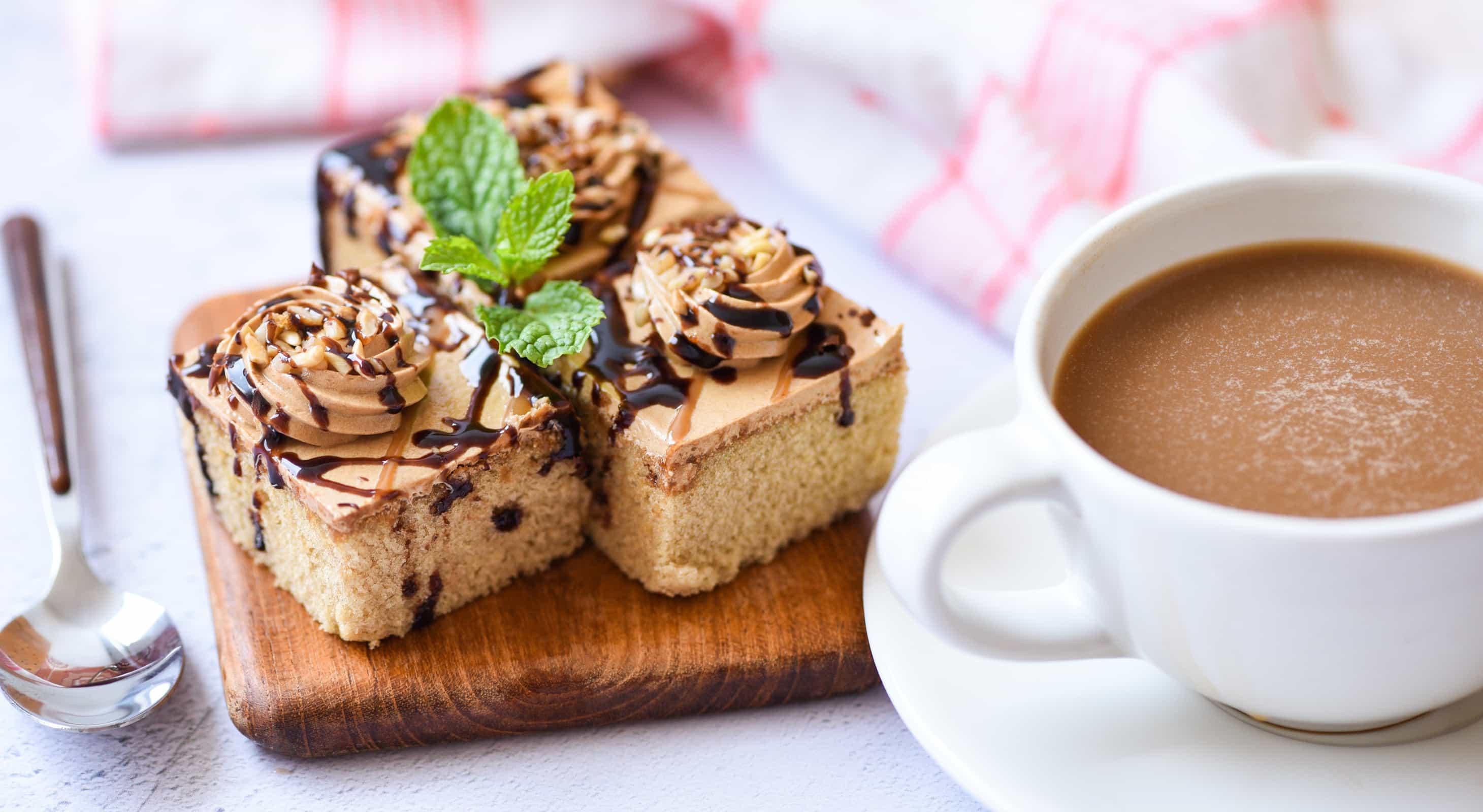 Coffee Cake served with coffee