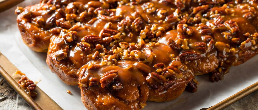 Maple and pecan baked bars
