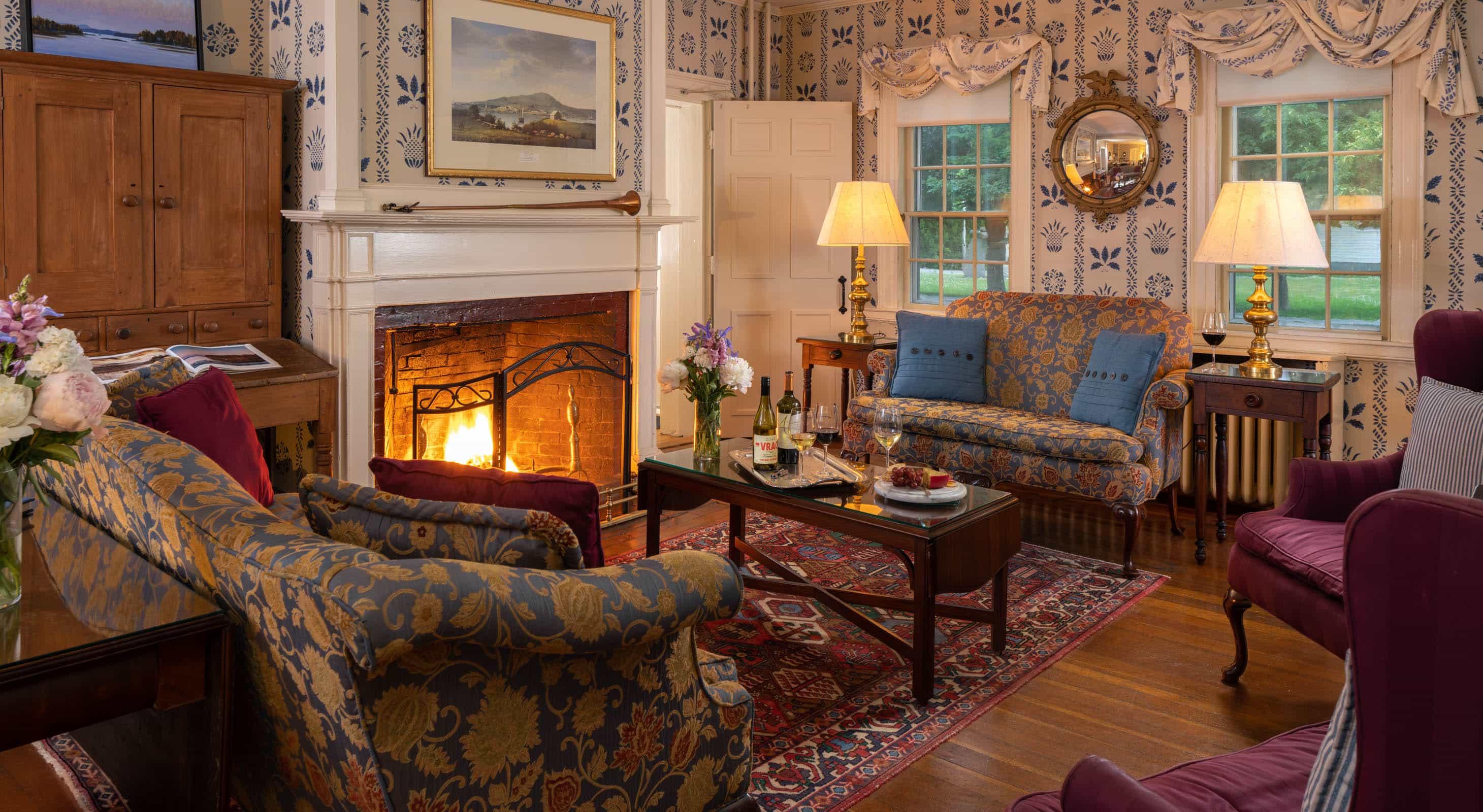 Blue Hill Inn Main Inn living room