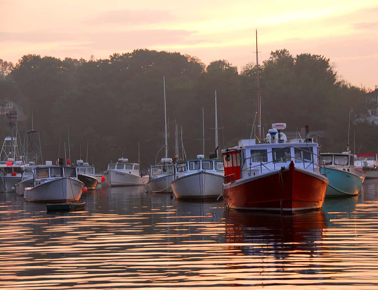 Lobster tour boats in Maine