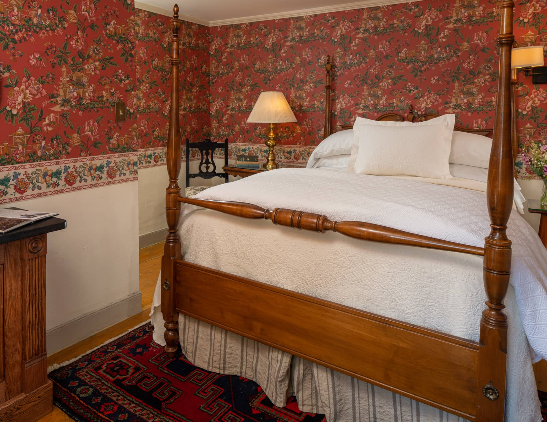 Double four poster bed at our Historic Maine Inn