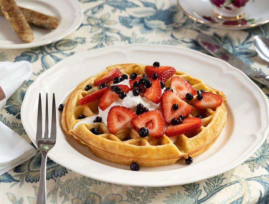 Waffle With Fresh Fruit